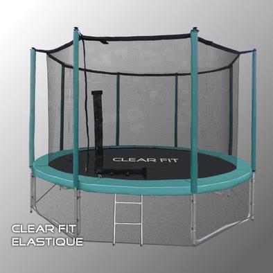 Батут с сеткой Clear Fit Elastique 14ft
