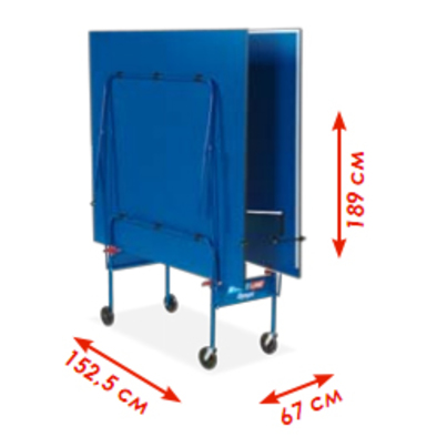 Теннисный стол для помещений Start Line Olympic синий (без сетки)