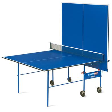 Теннисный стол для помещений Start Line Olympic синий (без сетки) Фото