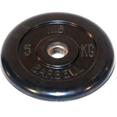 Диски обрезиненные черные Barbell 26 мм