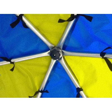 Батут с сеткой OPTIFIT Like Blue 8ft с крышей Фото