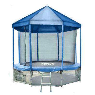 Батут с сеткой OPTIFIT Like Blue 16ft с крышей Фото