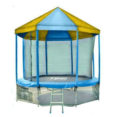 Батут с сеткой OPTIFIT Like Blue 10ft с крышей Фото