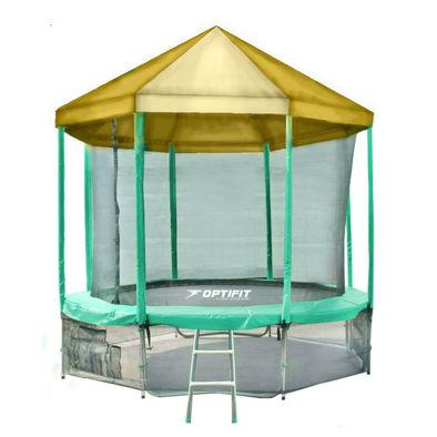 Батут с сеткой OPTIFIT Like Green 16ft с крышей Фото