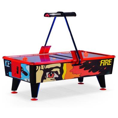Игровой стол Аэрохоккей Wik Ice & Fire 6ft с жетоноприемником