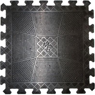 Коврик резиновый 400x400x12 мм черный Фото