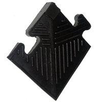 Уголок резиновый для бордюра 12 мм черный