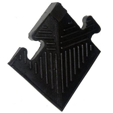 Уголок резиновый для бордюра 12 мм черный Фото