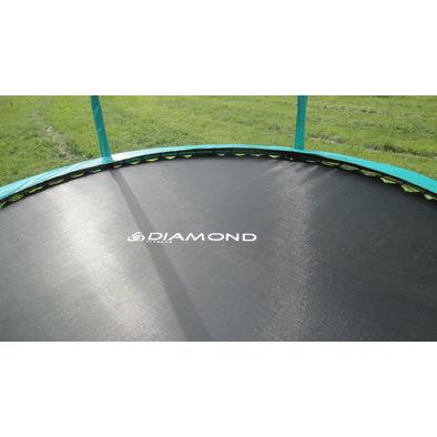 Батут с защитной сеткой и лестницей Diamond Fitness Black Edition 8ft