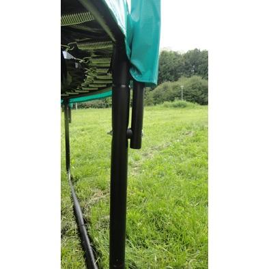 Батут с защитной сеткой и лестницей Diamond Fitness Black Edition 10ft Фото