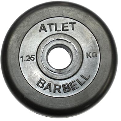 Диски обрезиненные черные Atlet 26 мм Фото
