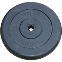 Диски обрезиненные черные Atlet 31 мм