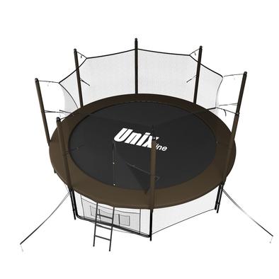 Батут с сеткой Unix 10 ft Black&Brown Inside
