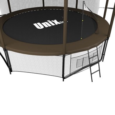 Батут с сеткой Unix 10 ft Black&Brown Inside Фото