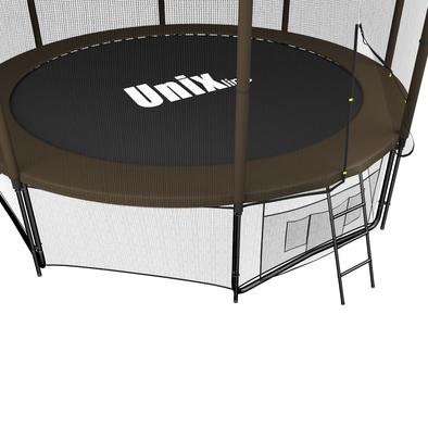 Батут с сеткой Unix 12 ft Black&Brown Outside Фото