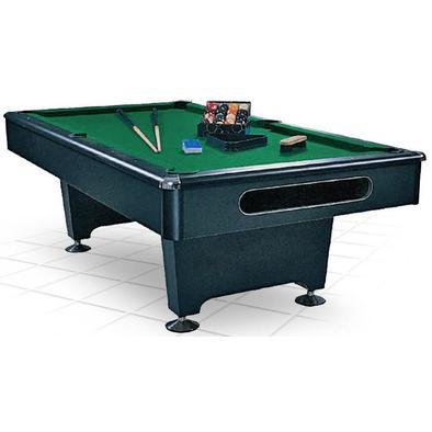 Бильярдный стол для пула Eliminator 8 ф (черный) в комплекте аксессуары и сукно Фото