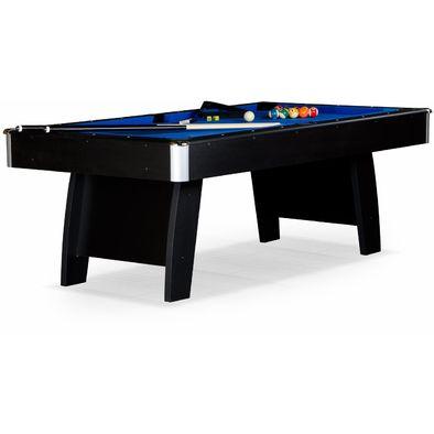 Бильярдный стол для пула Riga 8 ф (черный) ЛДСП в комплекте аксессуары