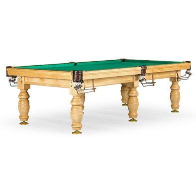 Бильярдный стол для русского бильярда Дебют 10 ф (светлый, плита 25 мм, 6 ног) Фото