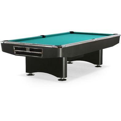 Бильярдный стол для пула Competition 9 ф (матово-чёрный) в комплекте аксессуары и сукно