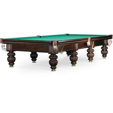 Бильярдный стол для русского бильярда Tower 11 ф (черный орех, 8 ног) Фото