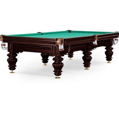 Бильярдный стол для русского бильярда Turin 9 ф (черный орех, 6 ног, плита 38мм) Фото