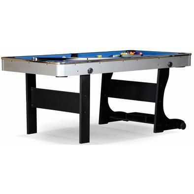Складной бильярдный стол для пула Team I 6 ф (черный) ЛДСП Фото