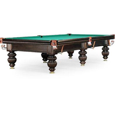 Бильярдный стол для русского бильярда Tower 9 ф (черный орех, 6 ног, плита 25 мм)
