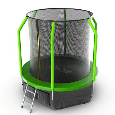 Батут с сеткой и лестницей EVO Jump Cosmo 6ft + нижняя сеть Фото