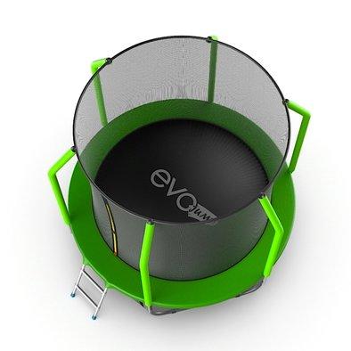 Батут с сеткой и лестницей EVO Jump Cosmo 8ft + нижняя сеть