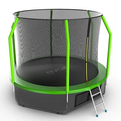 Батут с сеткой и лестницей EVO Jump Cosmo 10ft + нижняя сеть