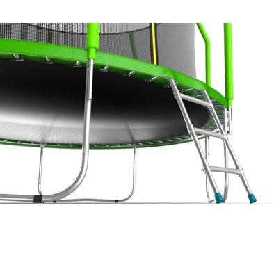 Батут с сеткой и лестницей EVO Jump Cosmo 12ft Фото