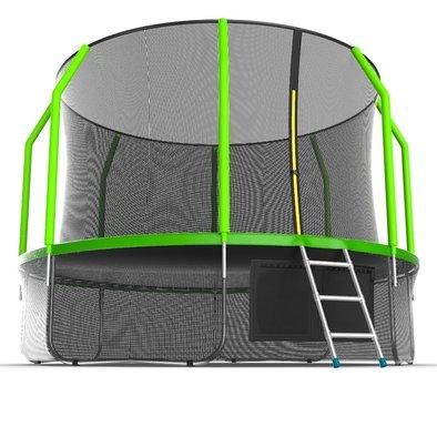 Батут с сеткой и лестницей EVO Jump Cosmo 12ft + нижняя сеть