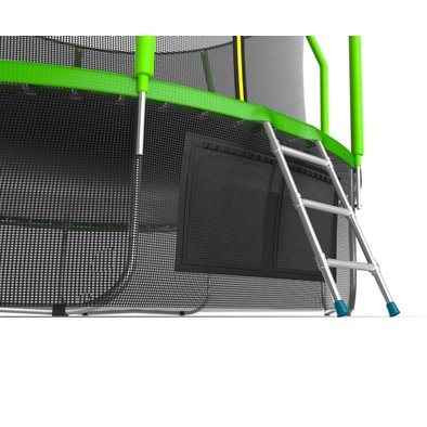 Батут с сеткой и лестницей EVO Jump Cosmo 12ft + нижняя сеть Фото