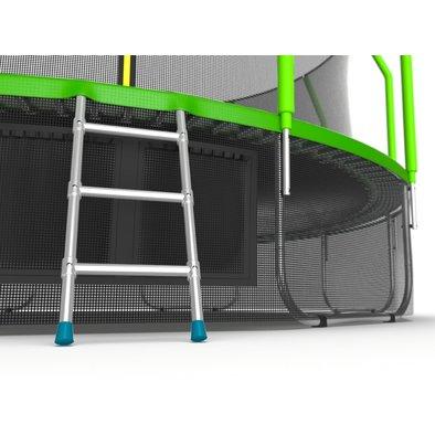 Батут с сеткой и лестницей EVO Jump Cosmo 16ft + нижняя сеть