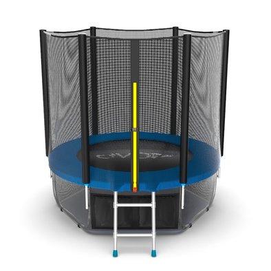 Батут с сеткой и лестницей EVO Jump External 6ft + нижняя сеть