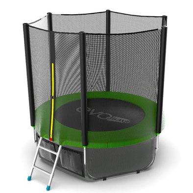 Батут с сеткой и лестницей EVO Jump External 6ft + нижняя сеть Фото