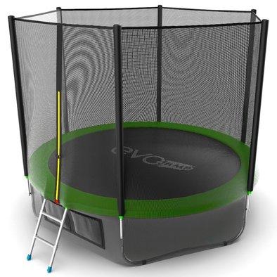 Батут с сеткой и лестницей EVO Jump External 10ft + нижняя сеть Фото