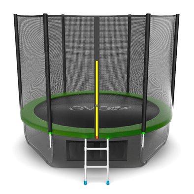 Батут с сеткой и лестницей EVO Jump External 10ft + нижняя сеть