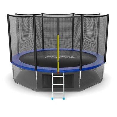 Батут с сеткой и лестницей EVO Jump External 12ft + нижняя сеть