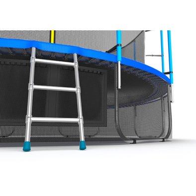 Батут с сеткой и лестницей EVO Jump Internal 16ft + нижняя сеть Фото