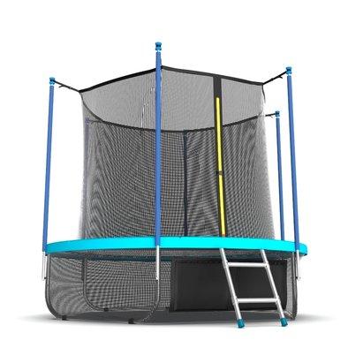 Батут с сеткой и лестницей EVO Jump Internal 8ft Wave + нижняя сеть