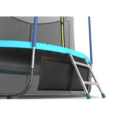 Батут с сеткой и лестницей EVO Jump Internal 10ft Wave + нижняя сеть