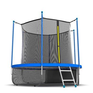 Батут с сеткой и лестницей EVO Jump Internal 8ft Sky + нижняя сеть