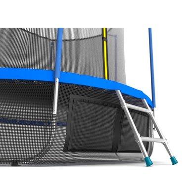 Батут с сеткой и лестницей EVO Jump Internal 8ft Sky + нижняя сеть Фото